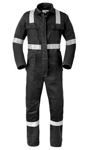HAVEP-Warnschutz-Overall, 5safety, Reflektionsstreifen, 280g/m² schwarz