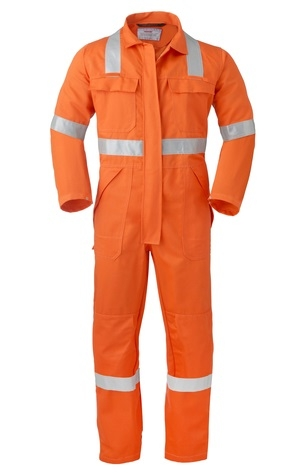 HAVEP-Warnschutz-Overall, 5safety, Reflektionsstreifen, 280g/m² orange