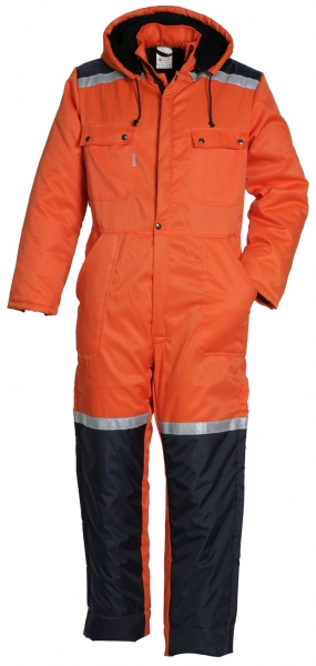 HAVEP-Warnschutz-Overall, 240 g/m², orange/marine