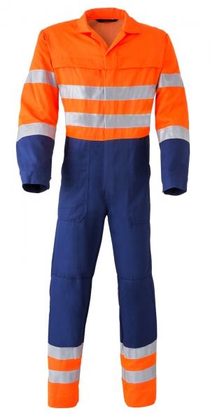 HAVEP-Warn-Schutz-Overall, 290 g/m², marine/fluor-orange