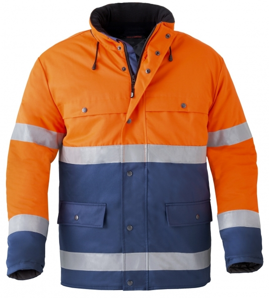 HAVEP-Warnschutz-Parka, 240 g/m², marine/fluor-orange