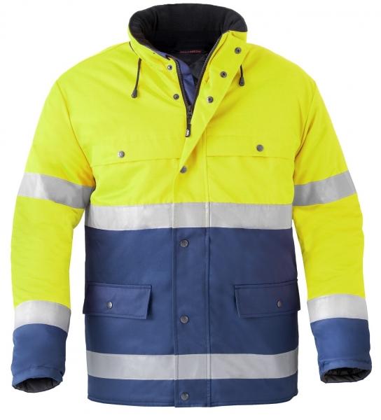 HAVEP-Warnschutz-Parka, 240 g/m², marine/fluor-gelb