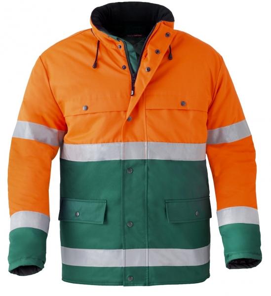 HAVEP-Warnschutz-Parka, 240 g/m², grün/fluor-orange