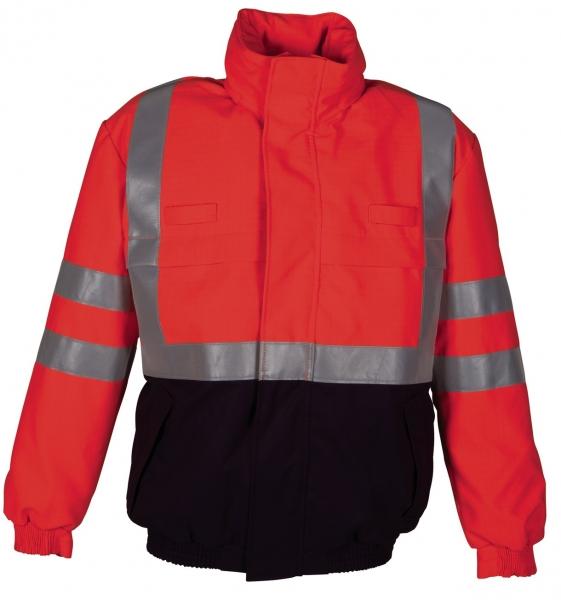 HAVEP-Warn-Schutz-Piloten-Jacke, 320 g/m², marine/fluor-orange