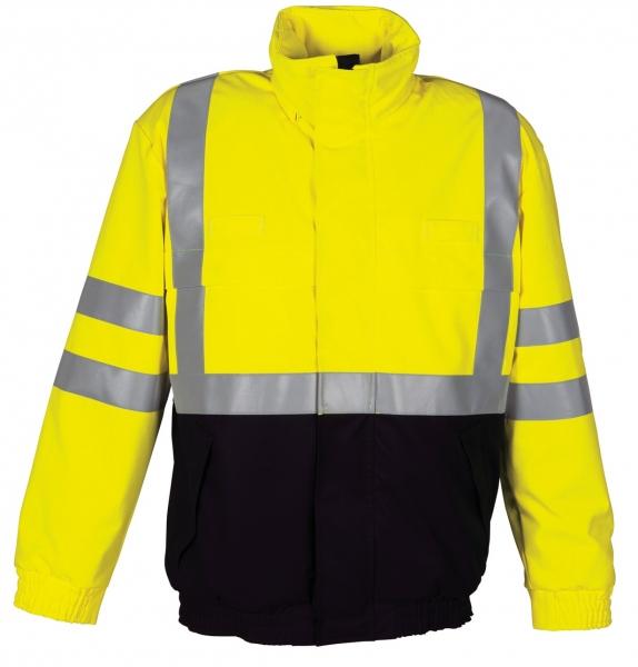 HAVEP-Warn-Schutz-Piloten-Jacke, 320 g/m², marine/fluor-gelb