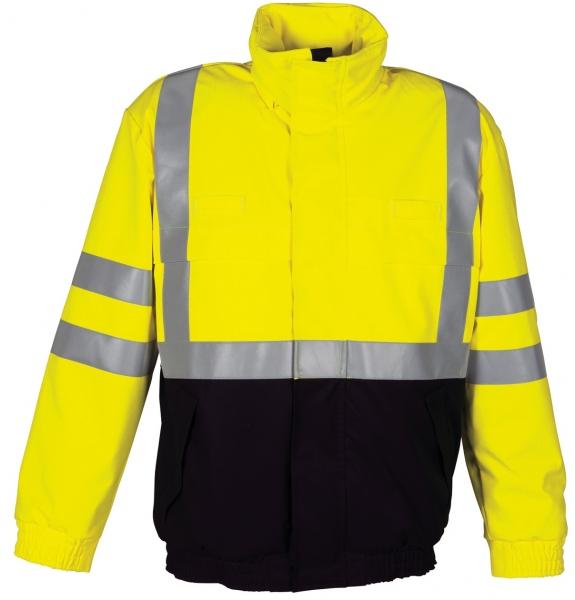 HAVEP-Warnschutz-Piloten-Jacke, 320 g/m², marine/fluor-gelb