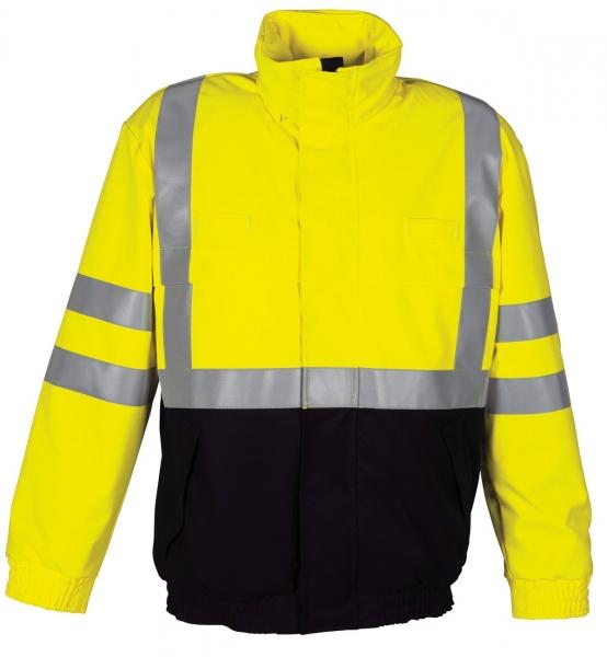 HAVEP-Warn-Schutz-Piloten-Jacke, 280 g/m², marine/fluor-gelb