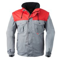 HAVEP-Arbeits-Berufs-Jacke, Allwetterjacke, 240 g/m², grau/rot