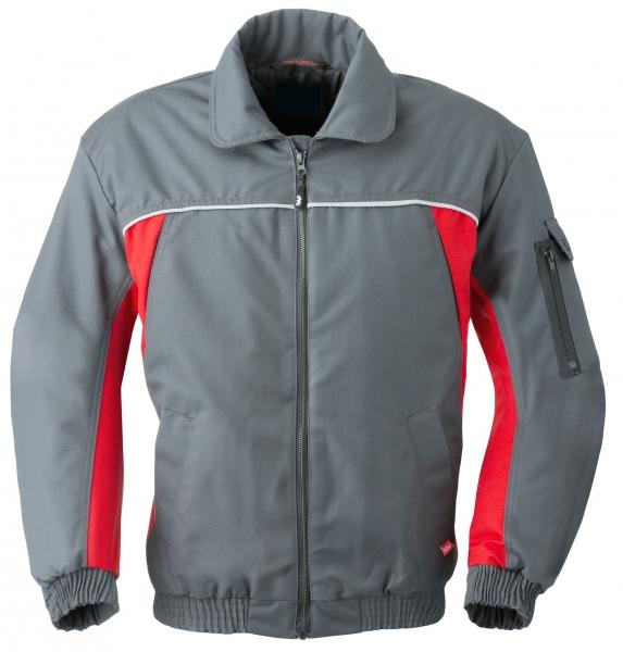 HAVEP-Winter-Arbeits-Berufs-Piloten-Jacke, 260 g/m², kohlengrau/rot
