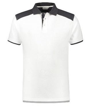 HAVEP-Basic Polo-Shirt, weiss/kohlengrau