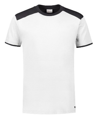 HAVEP-Basic T-Shirt, weiss/kohlengrau