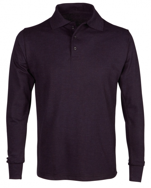 HAVEP-Polo-Shirt, Flammhemmend, langarm, 240 g/m², marine