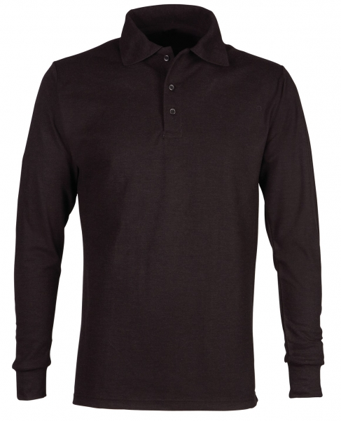 HAVEP-Polo-Shirt, Flammhemmend, langarm, 240 g/m², schwarz
