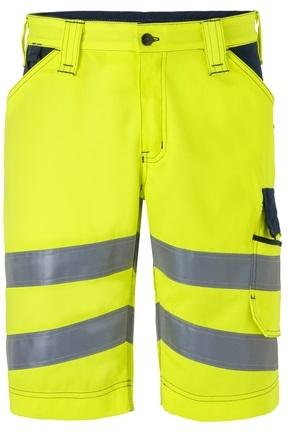HAVEP-Warn-Schutz-Bermuda, 290 g/m², fluor-gelb/marine