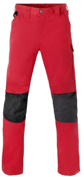 HAVEP Bundhose mit Knietaschen, rot/kohlengrau