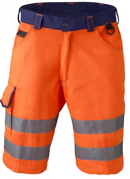 HAVEP-Warn-Schutz-Bermuda, 290 g/m², fluor-orange/marine