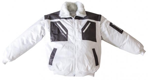 WATEX-Kälte-Schutz, Winter-Arbeits-Berufs-Piloten-Jacke, 2 in 1, weiß/anthrazit