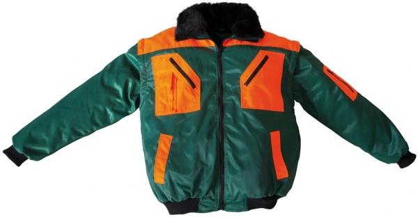 WATEX-Kälte-Schutz, Winter-Arbeits-Berufs-Piloten-Jacke, 2 in 1, grün/orange
