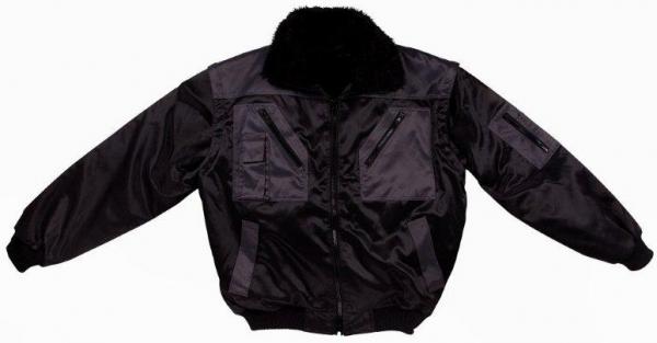 WATEX-Kälte-Schutz, Winter-Arbeits-Berufs-Piloten-Jacke, 2 in 1, schwarz/anthrazit