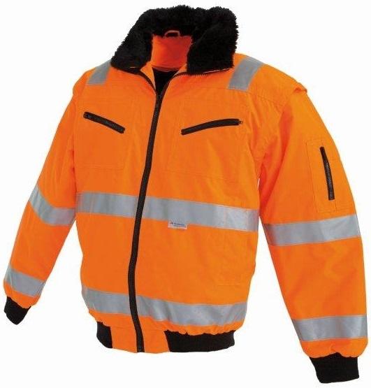 WATEX-Warn-Schutz-Warn-Piloten-Arbeits-Berufs-Jacke, fluoreszierend leucht-orange