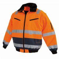 WATEX-Warn-Schutz-Bekleidung, Piloten-Arbeits-Berufs-Jacke, fluoreszierend leucht-orange-blau