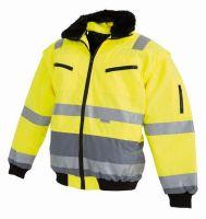 WATEX-Warn-Schutz-Bekleidung, Piloten-Arbeits-Berufs-Jacke, fluoreszierend gelb
