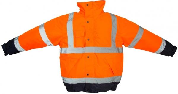 WATEX-Warn-Schutz-Piloten-Arbeits-Berufs-Jacke, leuchtorange/blau