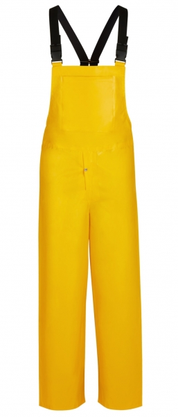 WATEX Wetter-Schutz-Bekleidung, Arbeits-Berufs-Regen-Latzhose, Nylflex, beidseitig PVC-beschichtet, gelb