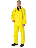WATEX Wetter-Schutz-Bekleidung, Arbeits-Berufs-Regen-Latzhose, Standard Super, PVC-beschichtet, gelb