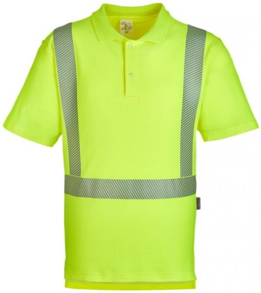 WATEX-Workwear, Warnschutz-Polo-Shirt, 185g/m² leuchtgelb