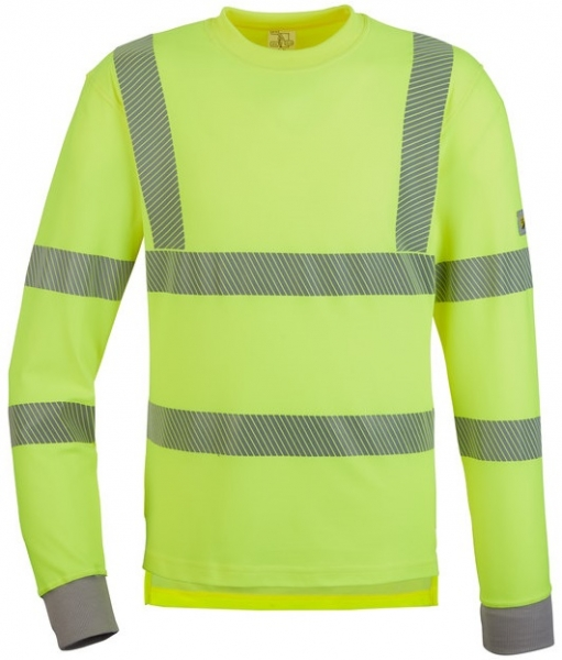 WATEX-Warnschutz-T-Shirt, langarm, leuchtgelb