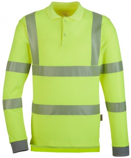 WATEX-Warnschutz-Polo-Shirt, langarm, leuchtgelb