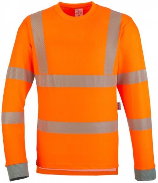 WATEX-Warnschutz-T-Shirt, langarm, leuchtorange