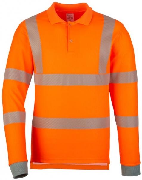 WATEX-Warnschutz-Polo-Shirt, langarm, leuchtorange