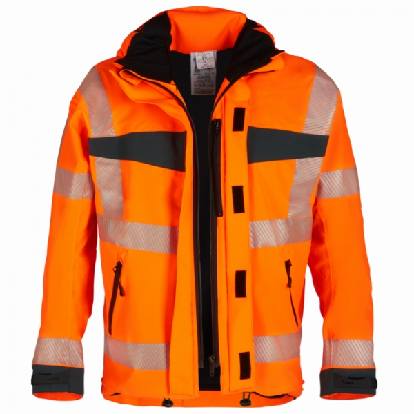 WATEX-Warn-Wetterschutz-Blouson, 200 g/m², orange/dunkelgrün