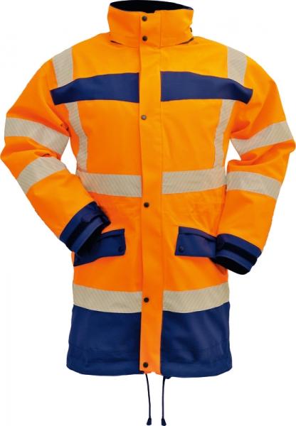 WATEX-Warn-Wetterschutz-Bundhose, leuchtorange / grün