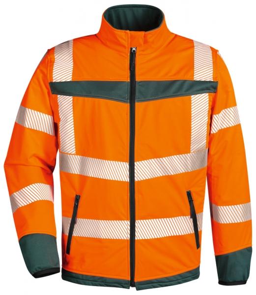 WATEX-Warnschutz-Softshell-Jacke, leuchtorange/grün