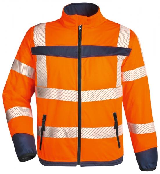 WATEX-Warnschutz-Softshell-Jacke, leuchtorange/marine