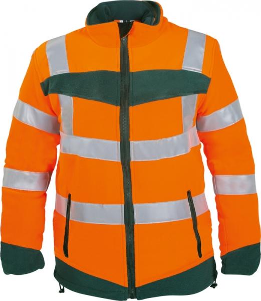 WATEX-Warnschutz-Fleece-Jacke, 320 g/m², leuchtorange/grün