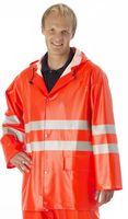 WATEX-Warnschutz-Regenjacke, mit Kapuze, leuchtorange