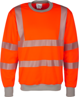 WATEX-Warn-Schutz--Sweat-Shirt, leuchtorange