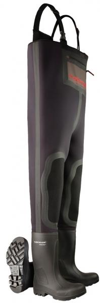 WATEX-Wathose Dunlop Neoprene Chest Wader full safety, schwarz