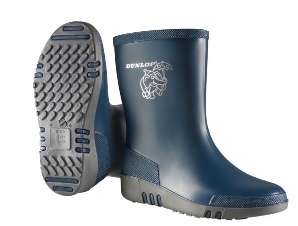 WATEX-PVC-Stiefel, Dunlop Mini, blau/grau