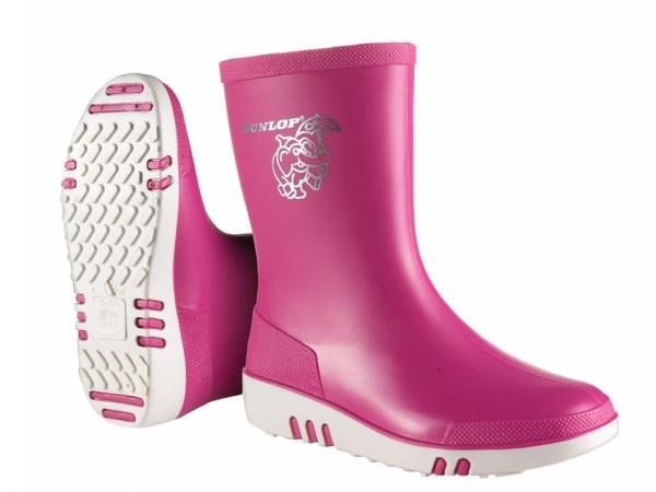 WATEX-PVC-Stiefel, Dunlop Mini, rosa/weiß
