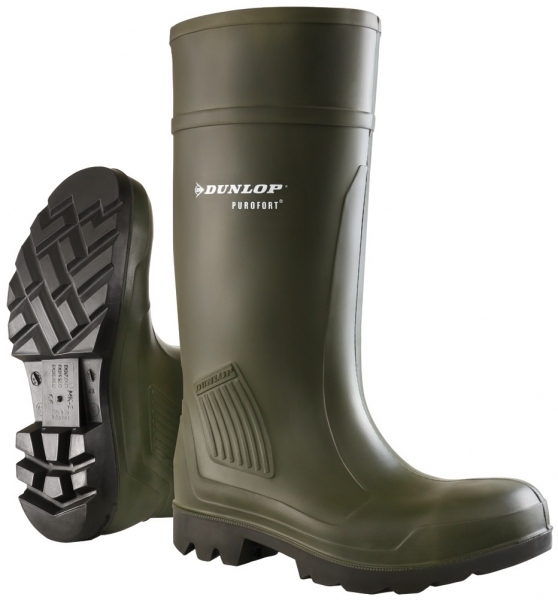 WATEX-S5-PU-Sicherheitsstiefel, Dunlop Purofort, grün
