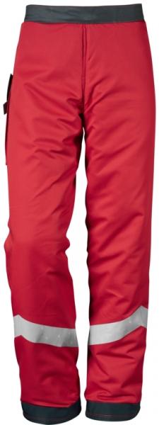 WATEX-Forstschutz-Beinlinge, rot mit Reflaxstreifen