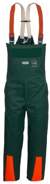 WATEX-Workwear, Forstlatzhose, grün/leuchtorange,
