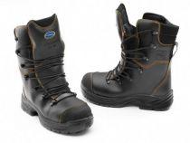 WATEX-Forstschutz-Schnittschutz-Forst-Leder-Arbeits-Berufs--Stiefel Forest-Jack, schwarz-rot