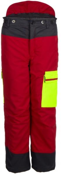 WATEX-Forstschutz-Bundhose, Forest Jack Red, rot/anthrazit/leuchtgelb
