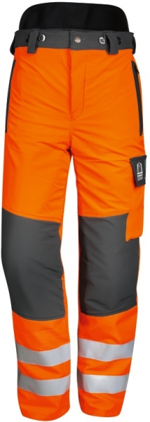 WATEX-Workwear, Warn-Schnittschutz-Bundhose, Forest-Jack, leuchtorange/grau